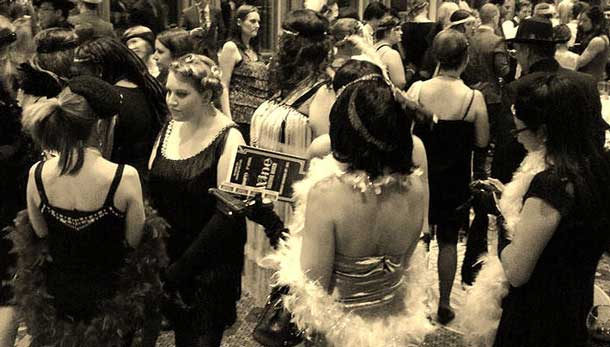 Shift Network 5th annual wine tasting at the Valhalla took on a 1920s theme in Thunder Bay or 'Little Chicago'