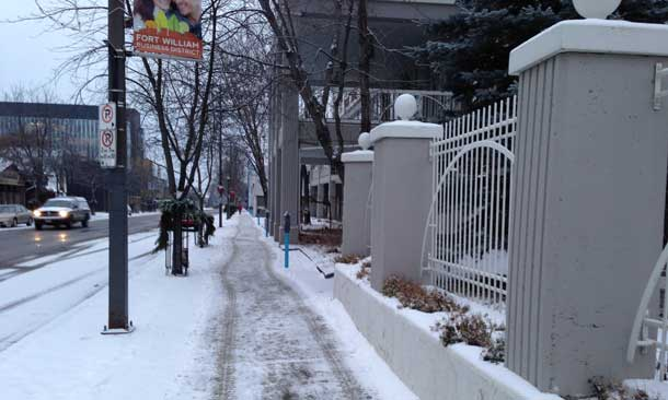 Thunder Bay City Sidewalk clearing
