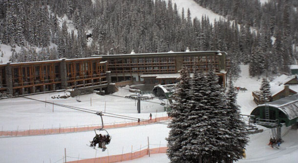 Alberta's iconic Sunshine Village is now open for the season. The resort averages up to 32 feet of snow in the winter.