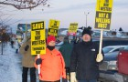 A chilly Thunder Bay Morning has not stopped Nor'Wester supporters from rallying to save the Mountains.