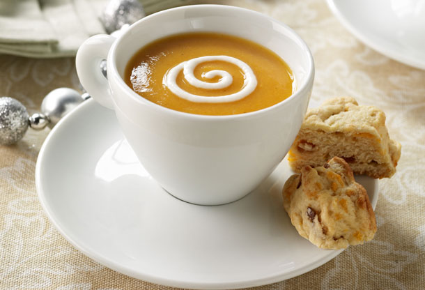 Curried Carrot and Potato Soup Shooters