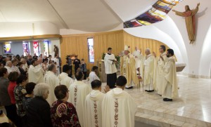 Ordination of a new Priest at St. Anthony's Church on Hilldale Road.