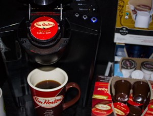 Tim Hortons is offering a number of new innovations. Dark roast coffee, the new Keurig cups, and the original blend.