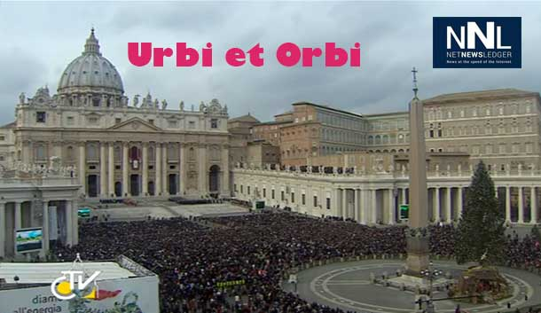 Urbi et Orbi message was delivered on Christmas Day in St. Peter's Square in the Vatican.