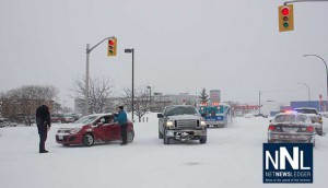 Slippery roads in Thunder Bay are causing havoc for drivers.
