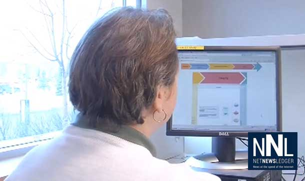 A patient navigates their diagnostic journey using the Electronic Pathway Solution (EPS) web-based tool.