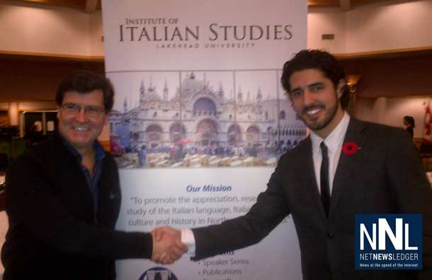 Frank Pullia with Michael Ciufo at Italian Cultural Centre as the Institute of Italian Studies Shares a Night of Music