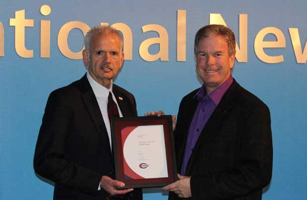 APTN's John Stoff was recognized