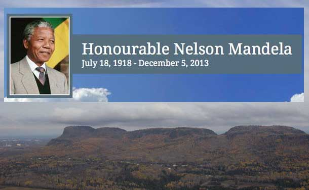 Nelson Mandela will be remembered in a memorial service in Thunder Bay