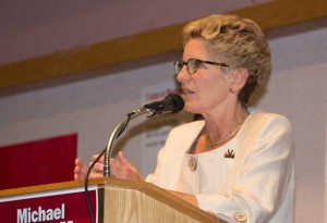 Premier Wynne in Thunder Bay - stock image