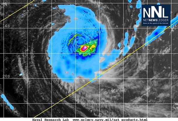 Tropical Cyclone Amara Rainfall Map