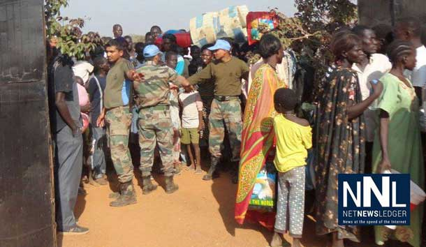 UNMISS peacekeepers have been assisting displaced civilians in South Sudan by providing protection, building sanitation facilities and giving medical support. Photo: UNMISS