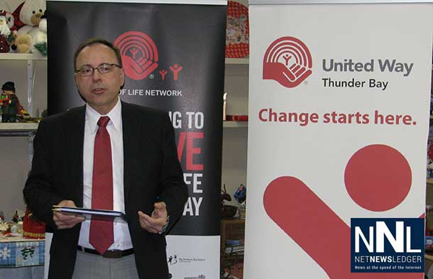 767,789 is left to be raised by December 31 to meet the United Way of Thunder Bay's much needed community goal of $2.7 Million.
