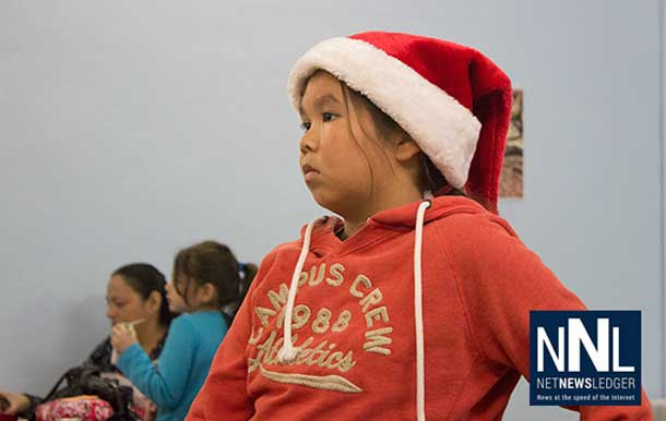 Waiting patiently for Santa Claus... Kids in Sioux Lookout don't have long to wait.