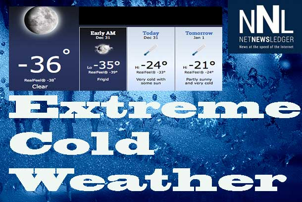 Extreme cold and very cold windchill makes it feel very cold across Northern Ontario.