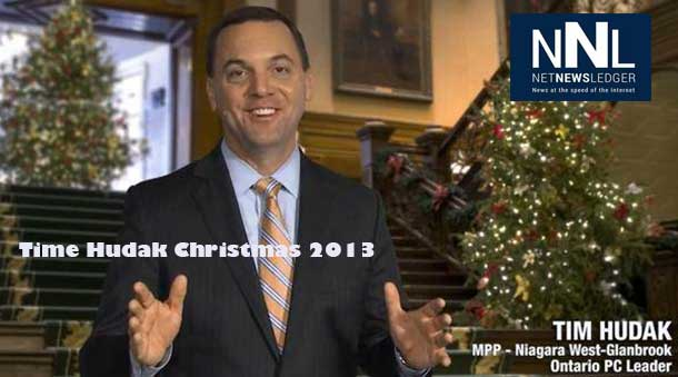 Ontario Progressive Conservative leader Tim Hudak 2013 Christmas Message