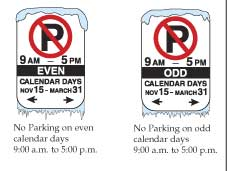 Following the Calendar Parking rules makes for safer streets.