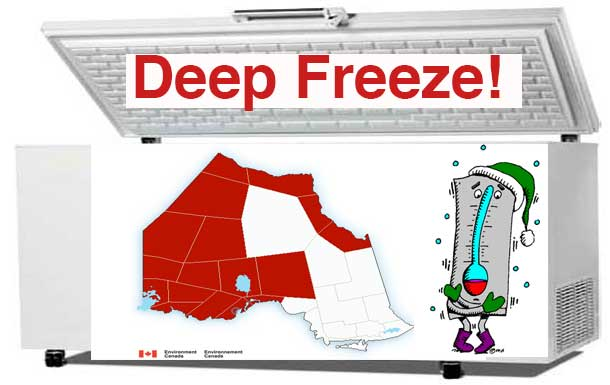Northwestern Ontario is headed back to the Deep Freeze - temperatures overnight dropping to -40c with the windchill