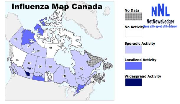 Flu Activity Map Canada NetNewsLedger   Influenza Report   Time to Hit Caution Button