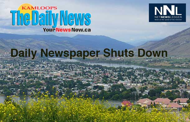The Kamloops Daily News is shutting down after 80 years of publication.