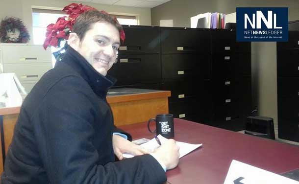 Logan Olivier has filed his nomination papers to run in McIntyre Ward