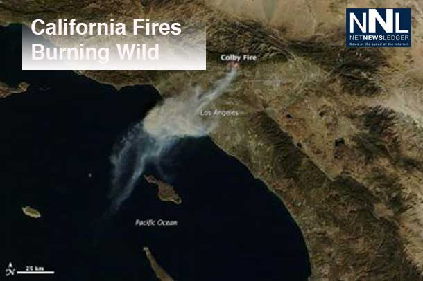 California Wild Fires causing concern - Drought conditions are fuelling the danger.