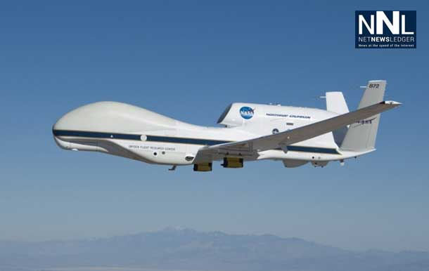The NASA Global Hawk is making its way to look at climate change and weather.