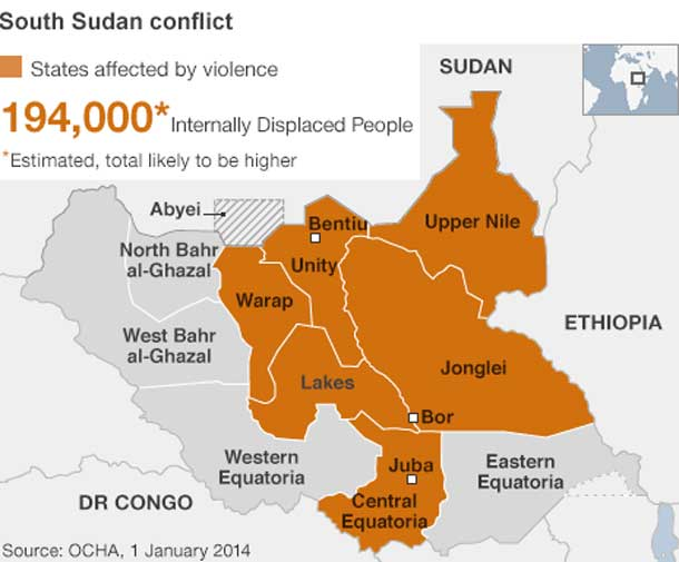 As the violence ramps up, the number of refugees increases in South Sudan.