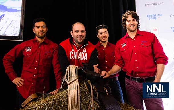 "The ""Canadian Cowboys"" were added to the Canadian Men's Alpine Ski Team for the Sochi Winter Olympic Games - Photo Courtesy Canadian Olympic Committee."