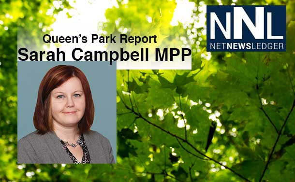 Queen's Park Report Sarah Campbell