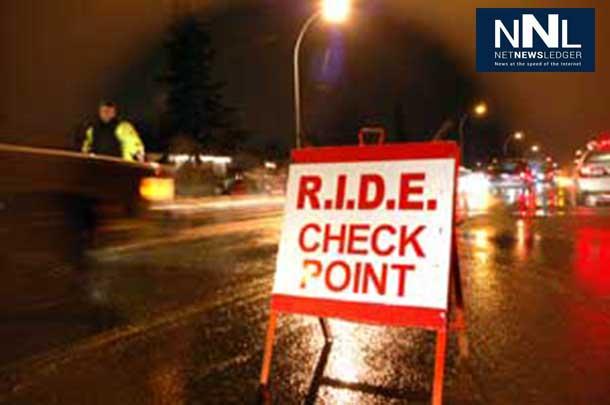 Festive R.I.D.E. Program success. Thunder Bay Police report on solid December