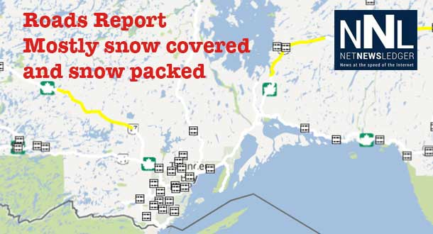 Highway conditions are snow covered to snow packed according to the latest from the Ministry of Transportation.