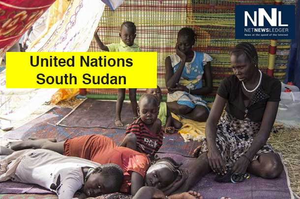 A family of South Sudanese civilians shelter at a UN base in Juba. UNHCR has been taking on increased responsibilities for the 57,000 civilians taking refuge in 10 UN compounds throughout the country. Photo: UNHCR/K. McKinsey