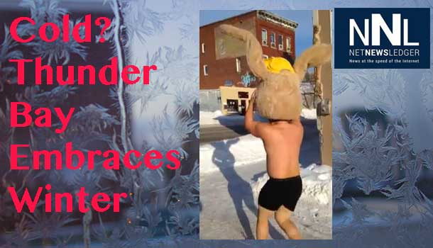 Proving that winter is more mind over matter, Thunder Bay's Dman takes a morning run at minus 40c
