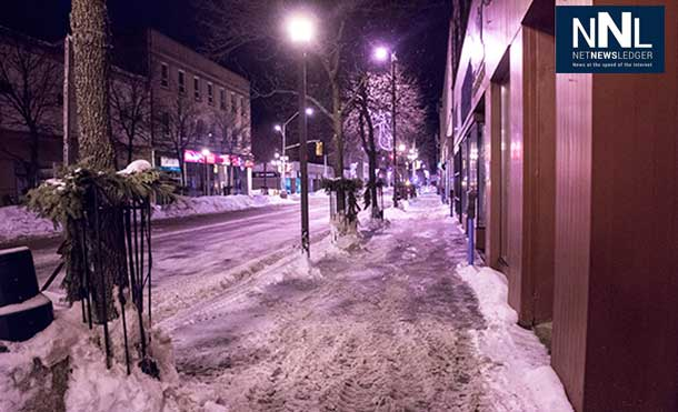 The results of a nights work by Thunder Bay Snow Clearing Crews. Safer streets and sidewalks