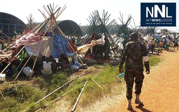 Civilians at the UN House compound on the southwestern outskirts of Juba, South Sudan. UN Photo/Julio Brathwaite