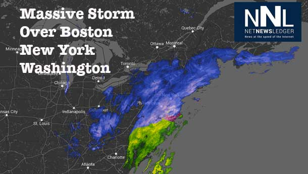 Massive snow storm aims at Eastern Seaboard of United States, Boston, Washington, and New York will all be impacted