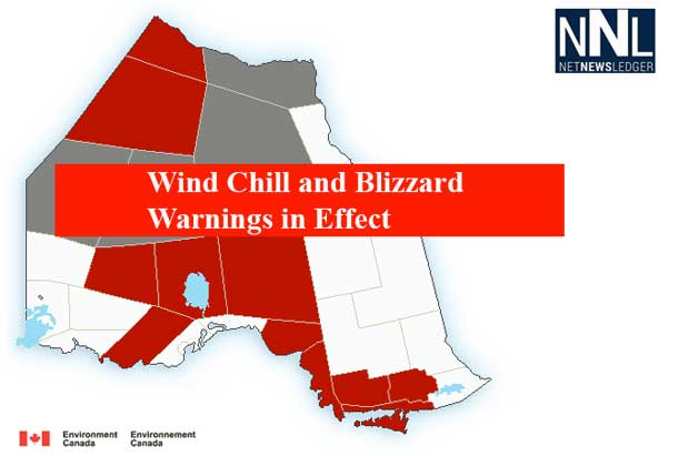 Blizzard Warning in effect for Fort Severn, Wind Chill Warnings in most of Northwestern Ontario