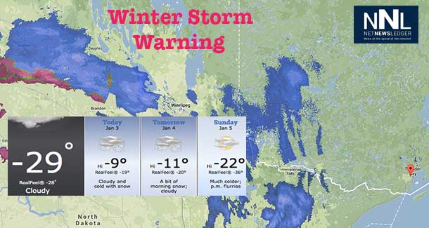 Weather outlook for Northwestern Ontario and Thunder Bay is for more snow, with cold temperatures remaining.