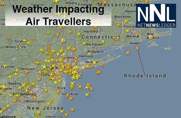 Flightaware.com is reporting 1900 flights have already been cancelled in the United States.