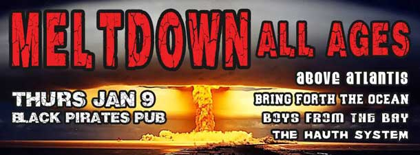 Countdown to Meltdown live at Black Pirate's Pub in Thunder Bay