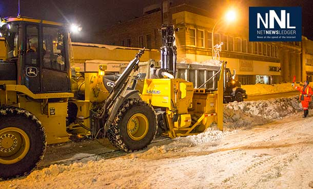 Clearing snowbanks in downtown Thunder Bay helps businesses and makes the streets safer