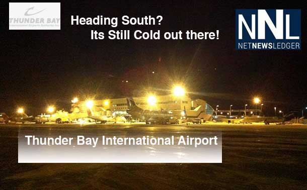 Cold weather at Thunder Bay International Airport. Image: TBIAA