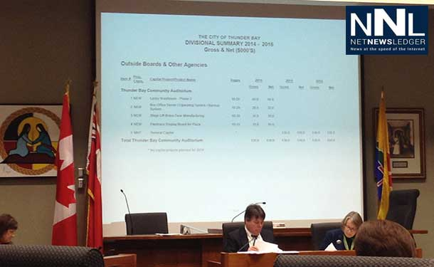 Thunder Bay City Council Chambers during Budget Debate - photo Logan Ollivier