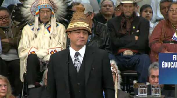 AFN National Chief Atleo speaking at Kainai First Nation.