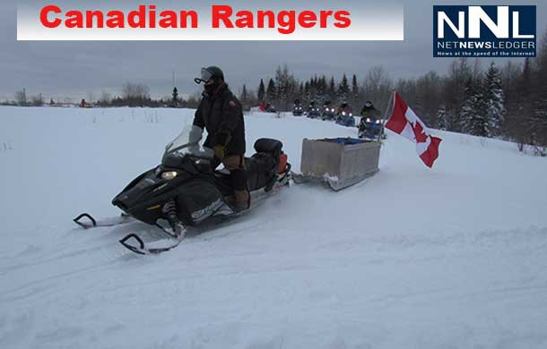 Canadian Rangers celebrate 20 years of service in Northern Ontario with a record-setting 2,250 kilometre-long surveillance patrol.  Credit: Sergeant Peter Moon, Canadian Rangers