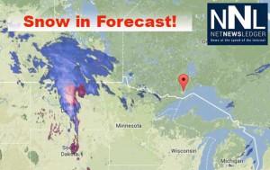 10-15 cm of snow in forecast for Thunder Bay