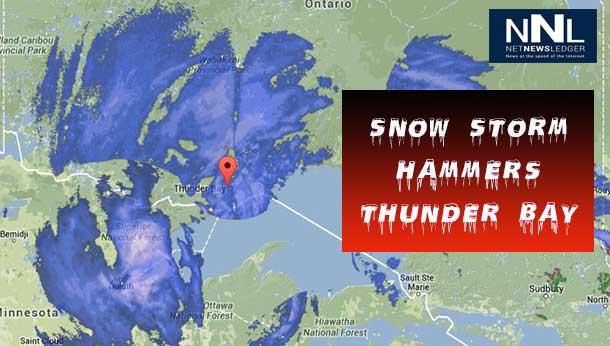 Snow Storm Hammers Thunder Bay