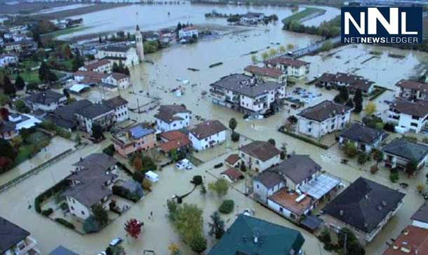 Heavy rain in Italy is causing flooding in several cities. Orlando Italy - Image Italia Government.
