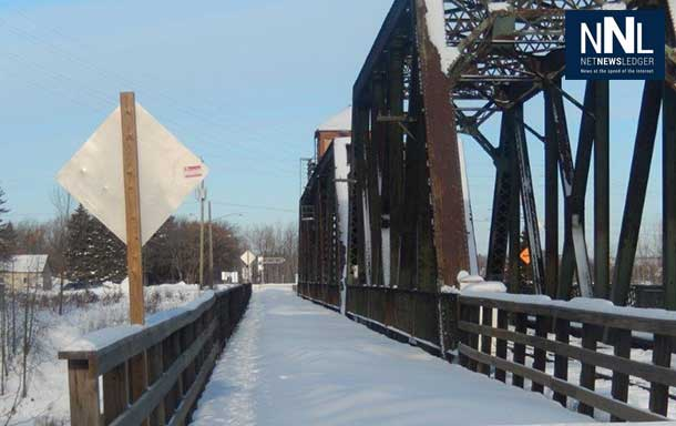 The bridge is closed to vehicles, as CN prepares a study.